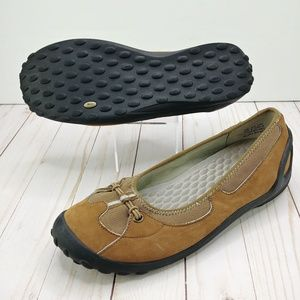 Privo   Brown Suede Slip On Comfort Shoes